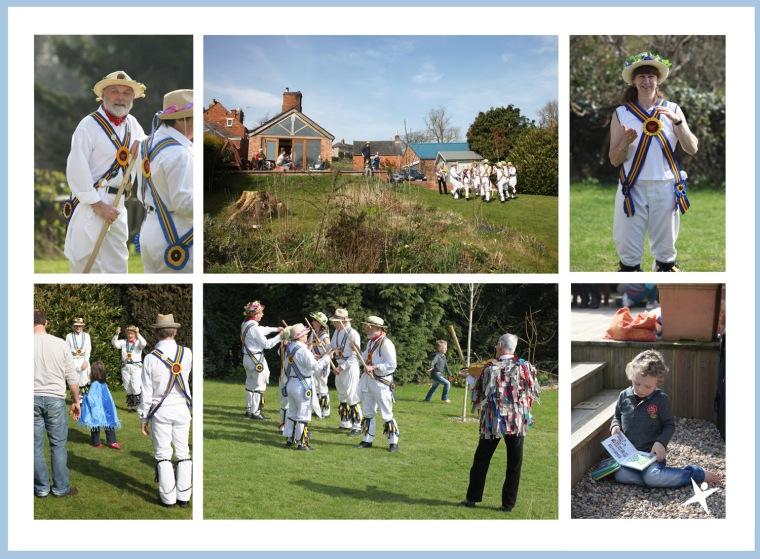 Morris Dancers in the Garden
