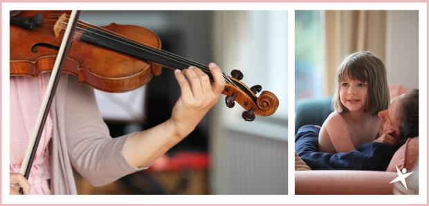 Iris and the violin