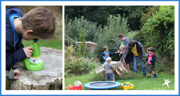 Little Explorers in the garden