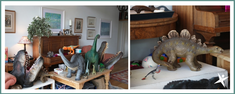 Dinosaurs in the garden room