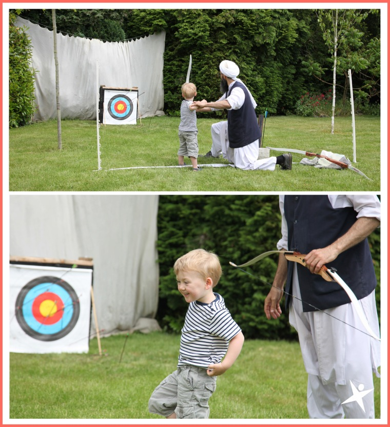 havng fun at the archery session
