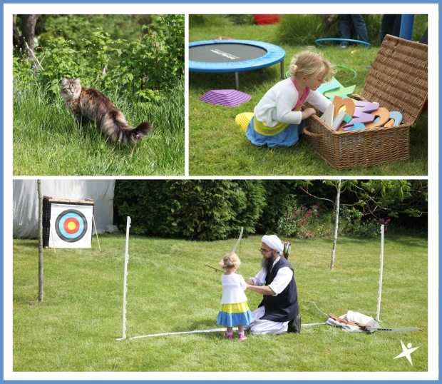our youngest meber of the club having a go at archery