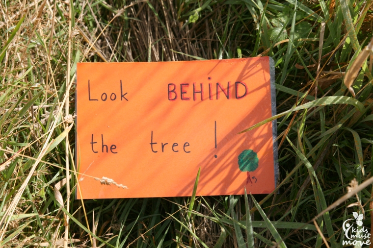 look behind the tree
